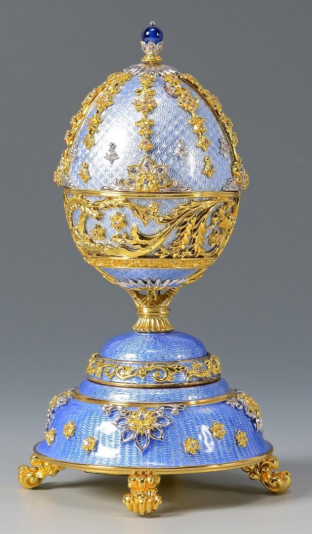 Lot 794: Franklin Mint Musical Fabergª Egg