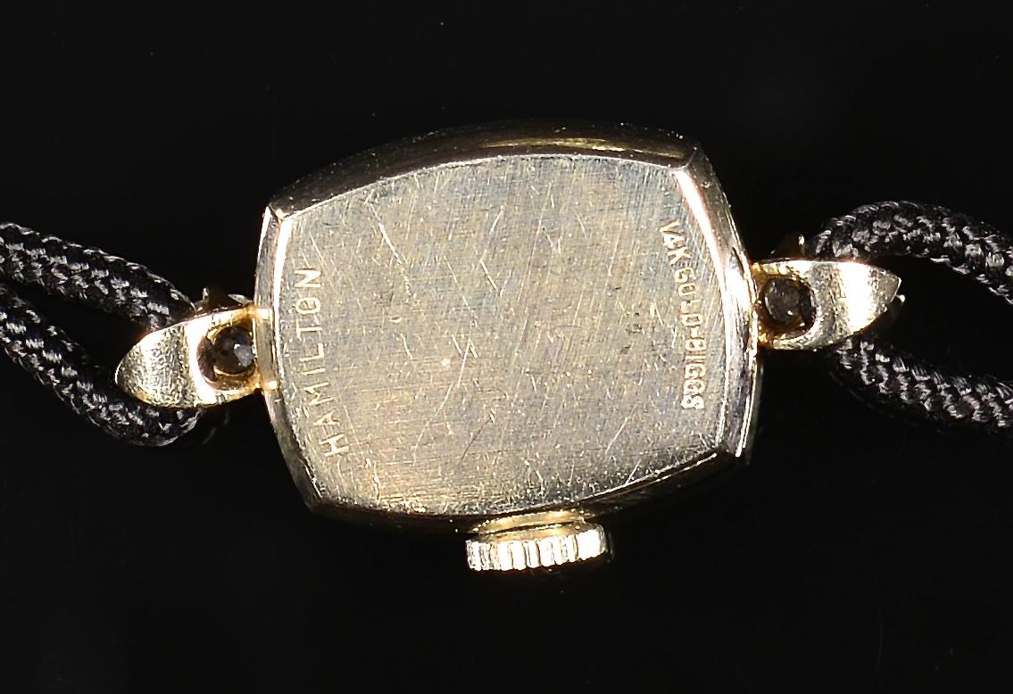 Lot 795: 5 Ladies 14k Watches, 4 w/ Diamonds