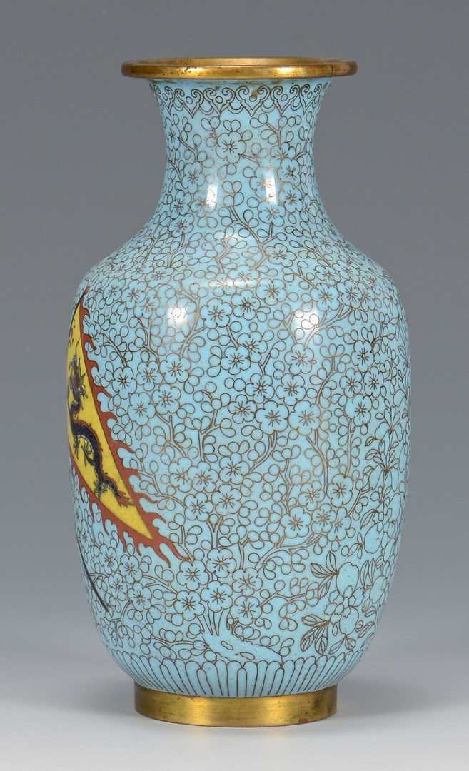 Lot 7: Great White Fleet Chinese Cloisonne Vase