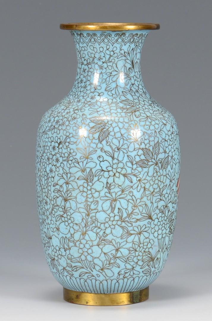 Lot 7: Great White Fleet Chinese Cloisonne Vase