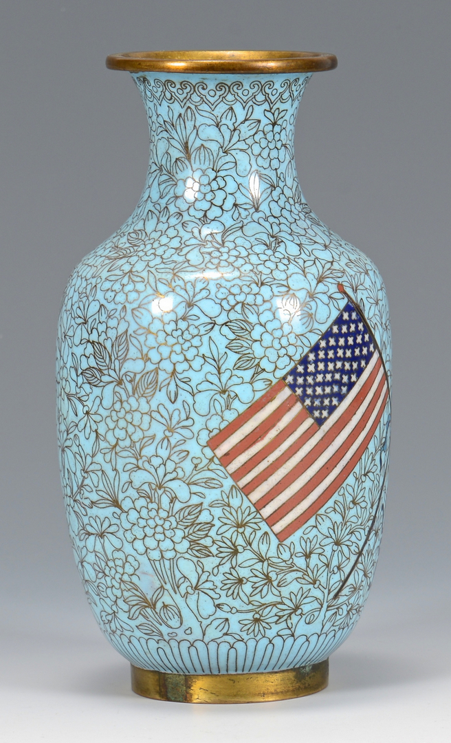 Auctions In Ohio >> Lot 7: Great White Fleet Chinese Cloisonne Vase