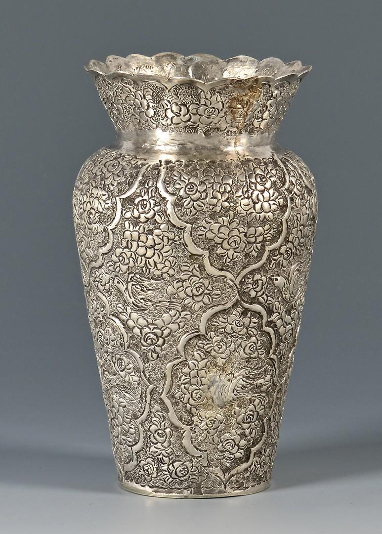 Lot 804 Kashmiri Or Indian Silver Vase