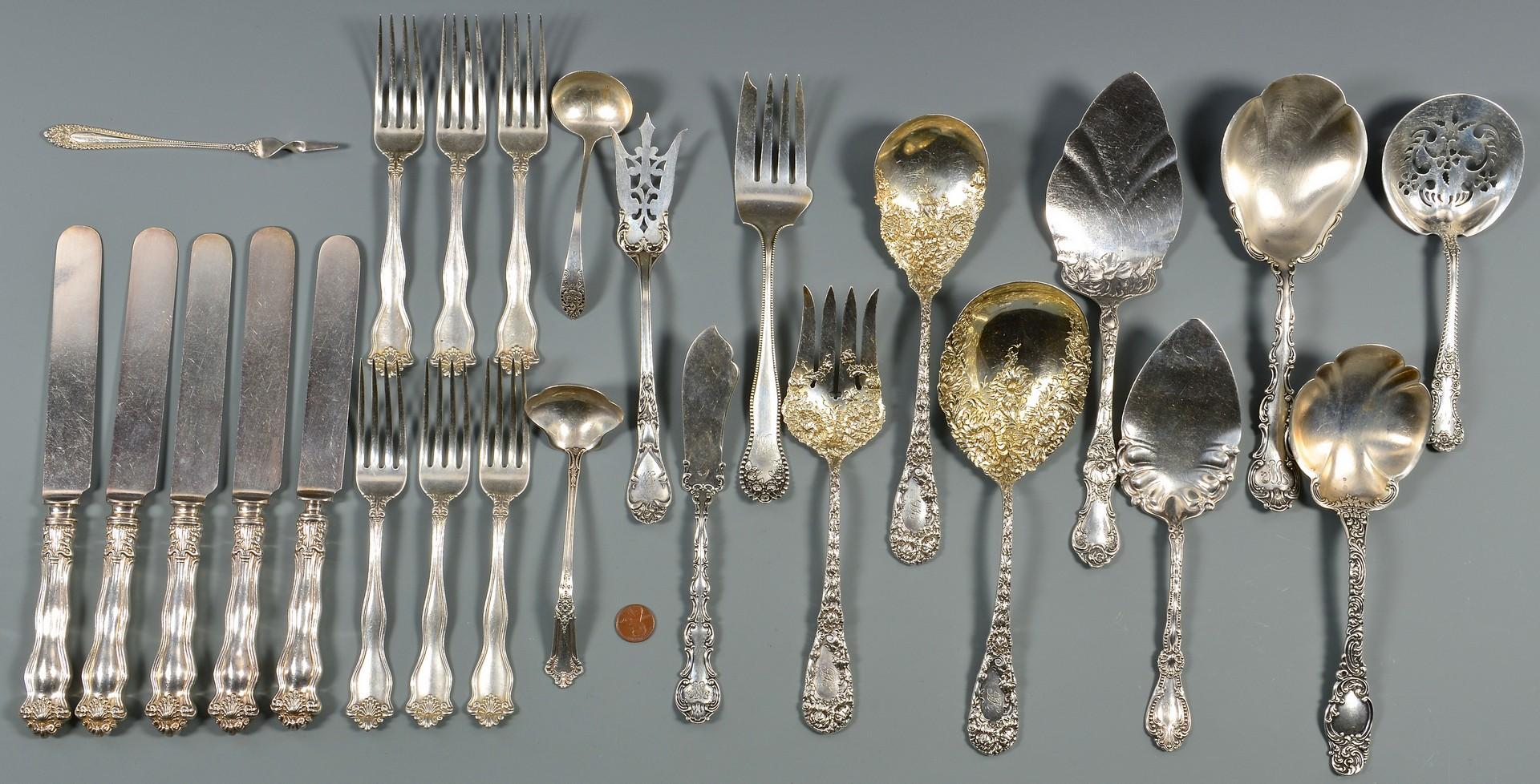 Lot 808: Group Vintage Sterling Flatware, 28 items