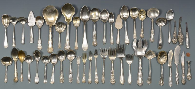 Lot 810: Vintage Sterling Serving Pieces, 47