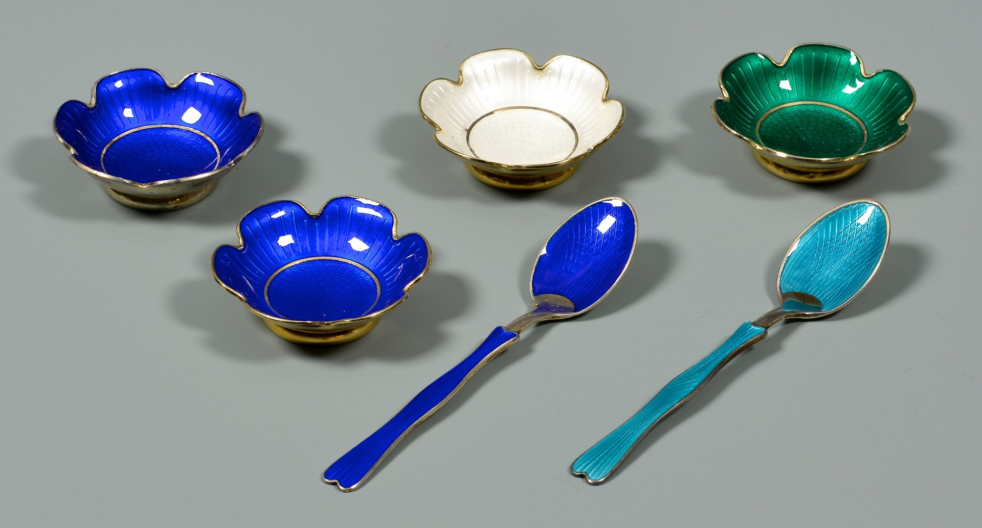 Lot 813: Sterling Flatware & Enamel Items, 36 pcs.