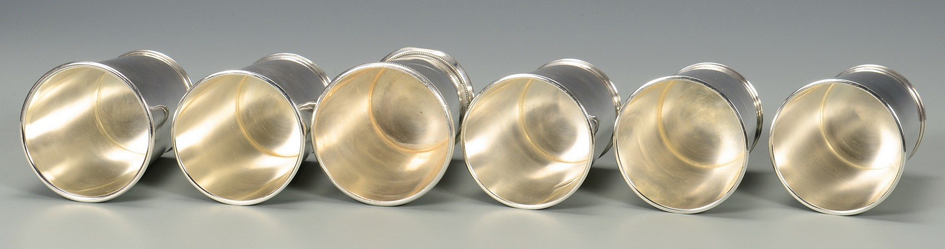 Lot 814: 5 Sterling Silver Julep Cups
