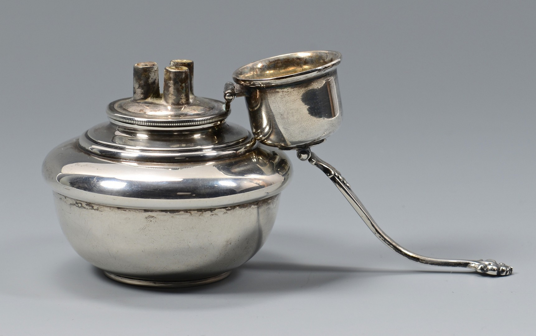 Lot 816: 3 Georg Jenson Sterling Spoons & Tiffany Oil Lamp
