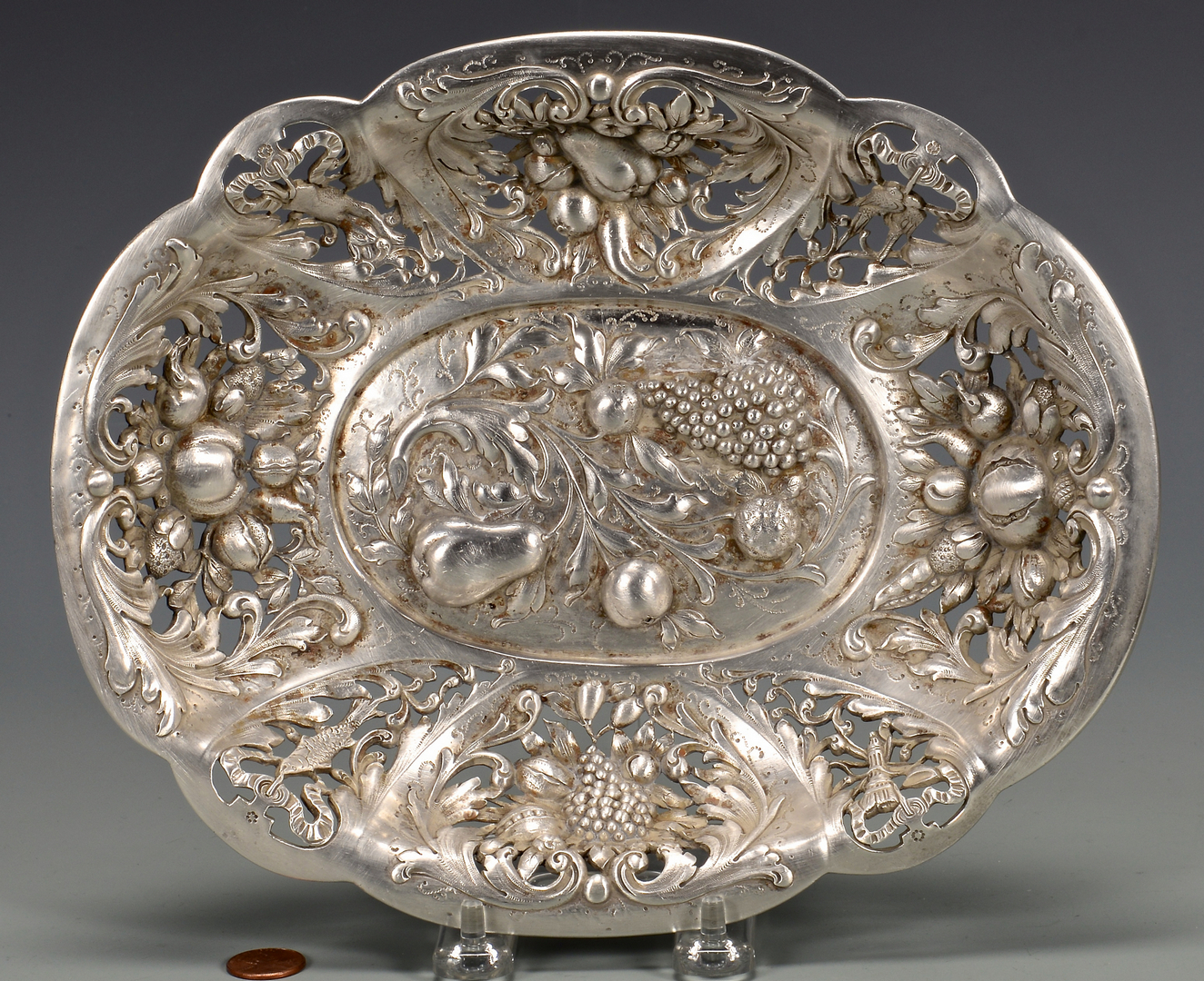 Lot 818 E F Caldwell Oval Sterling Bowl
