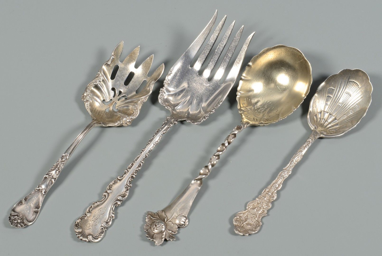 Lot 819: 11 Vintage Sterling Serving pieces
