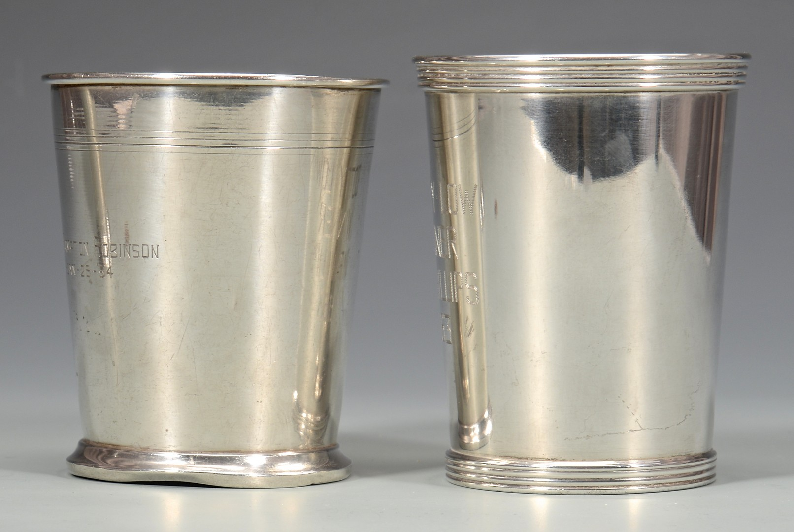 Lot 825: Group of 3 Sterling Silver Cups
