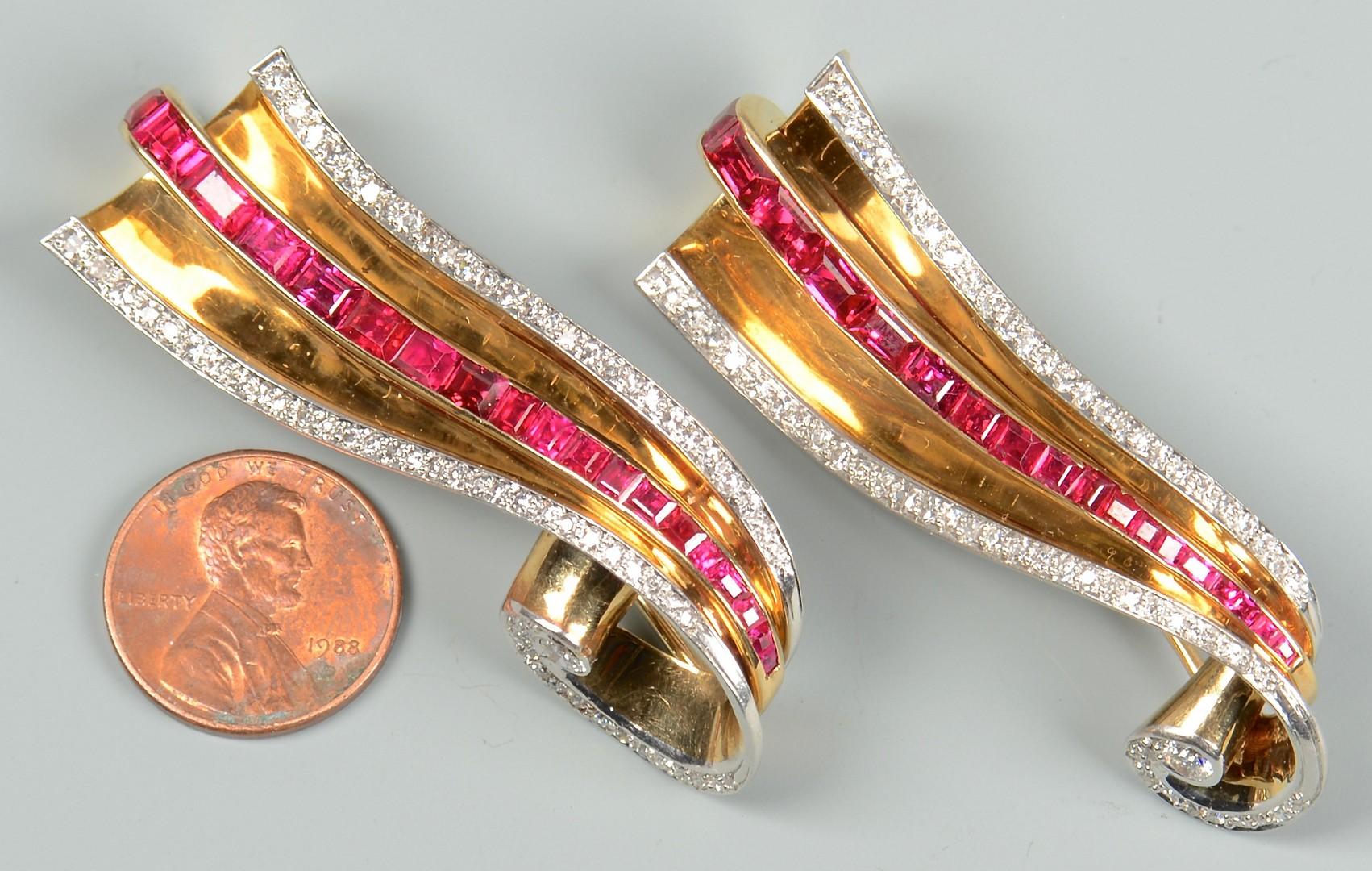 Lot 82: George Headley Diamond Ruby Pins