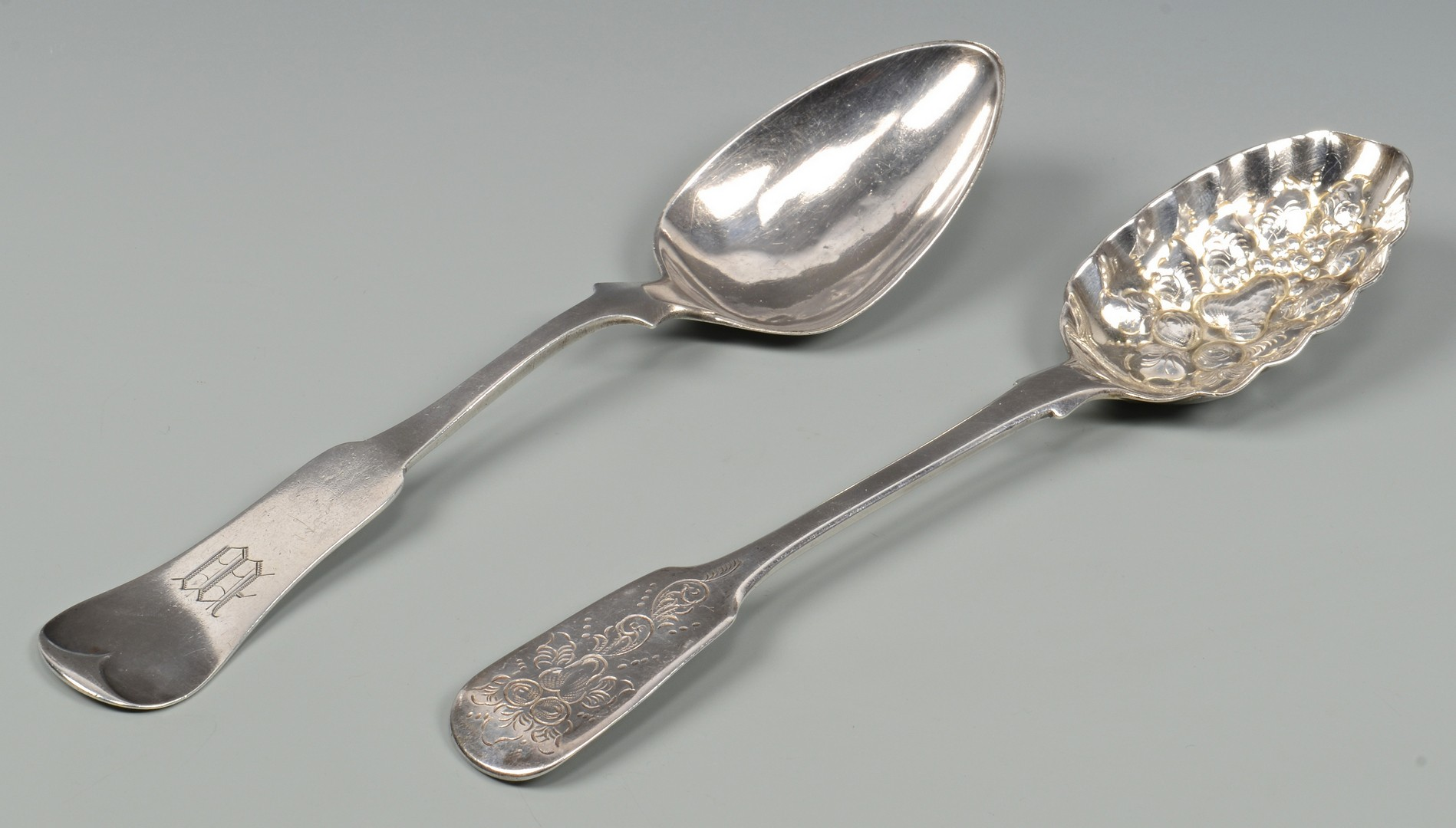 Lot 831: 5 Sterling Serving Spoons