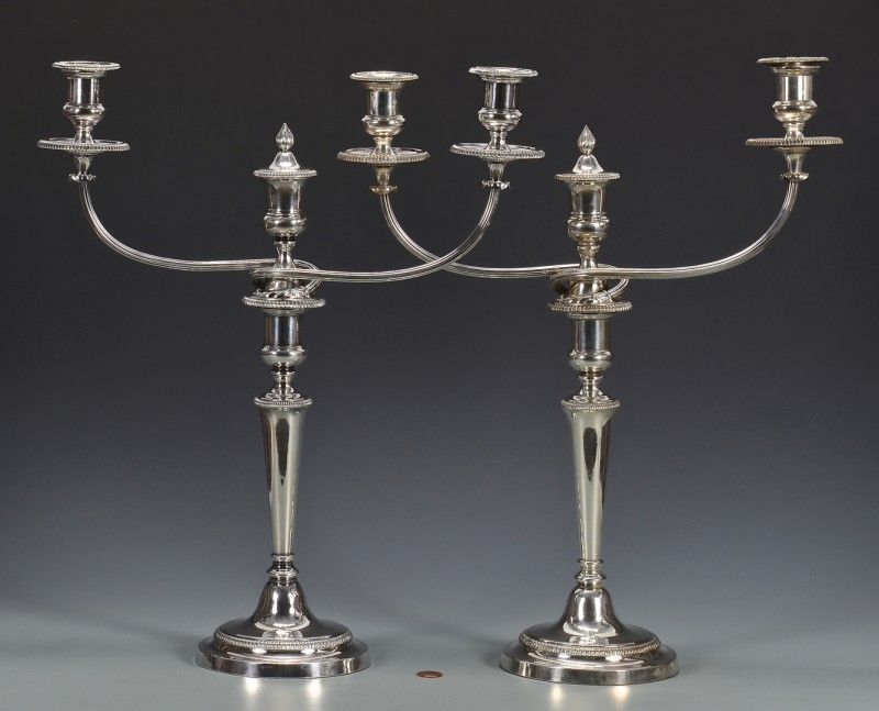 Lot 832: Pair Matthew Boulton Candelabra