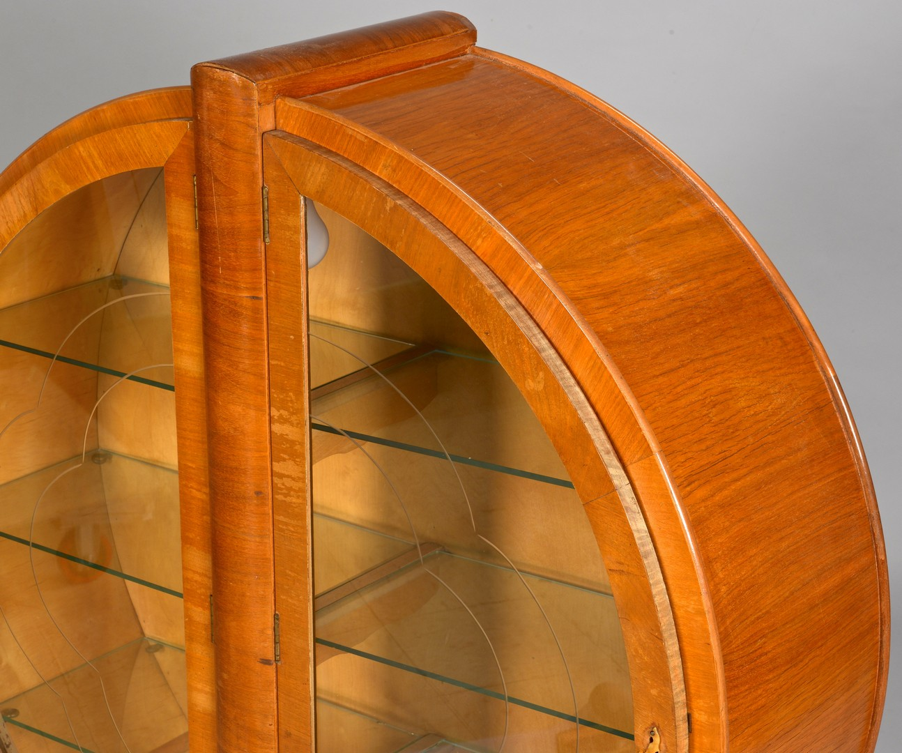 Lot 837: Art Deco Circular Display Cabinet