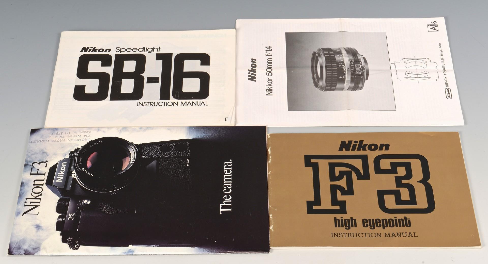 Lot 838: Nikon F3 Camera w/ Accessories & Manual