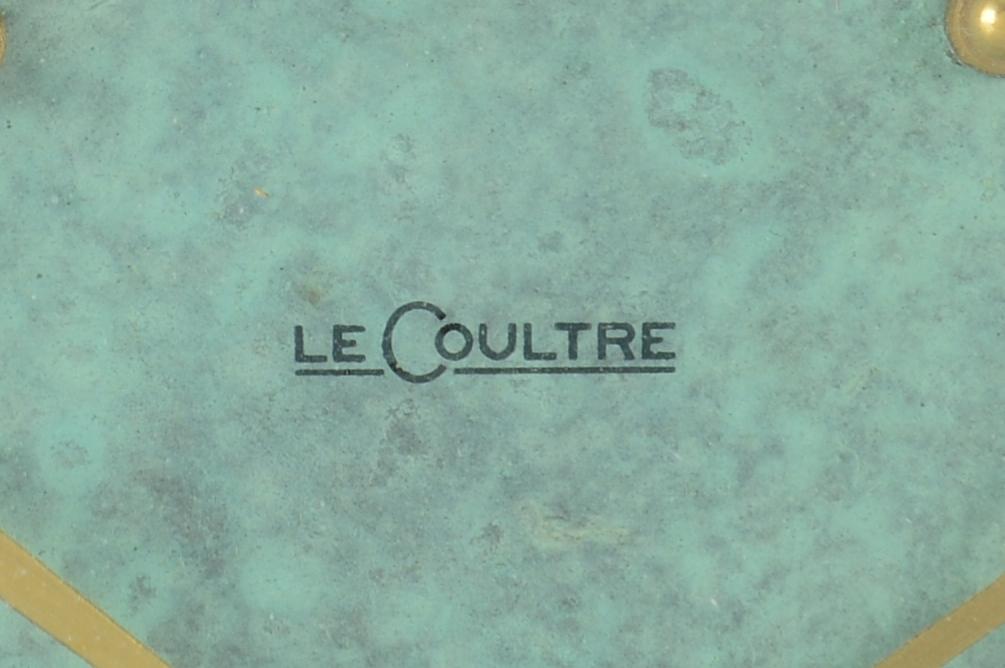 Lot 839: Le Coultre Art Deco Clock