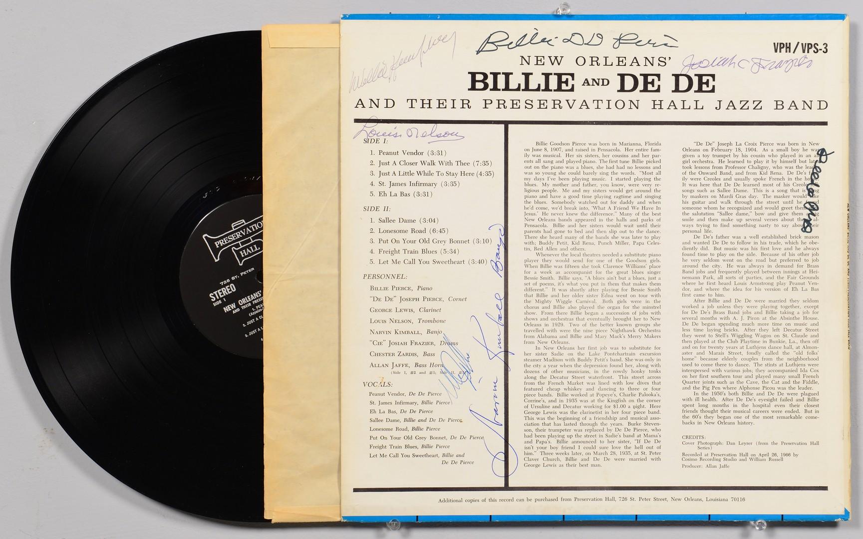 Lot 842: New Orleans autographed album, print