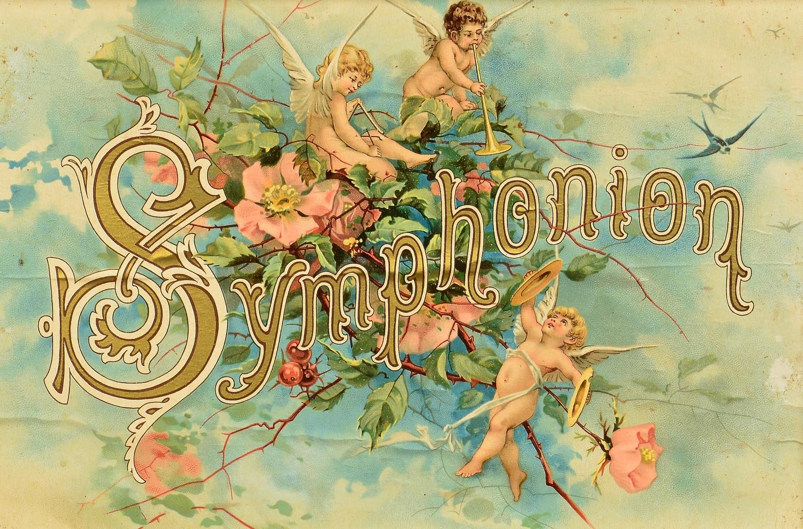 Lot 843: Symphonion Disc Music Box w/ discs
