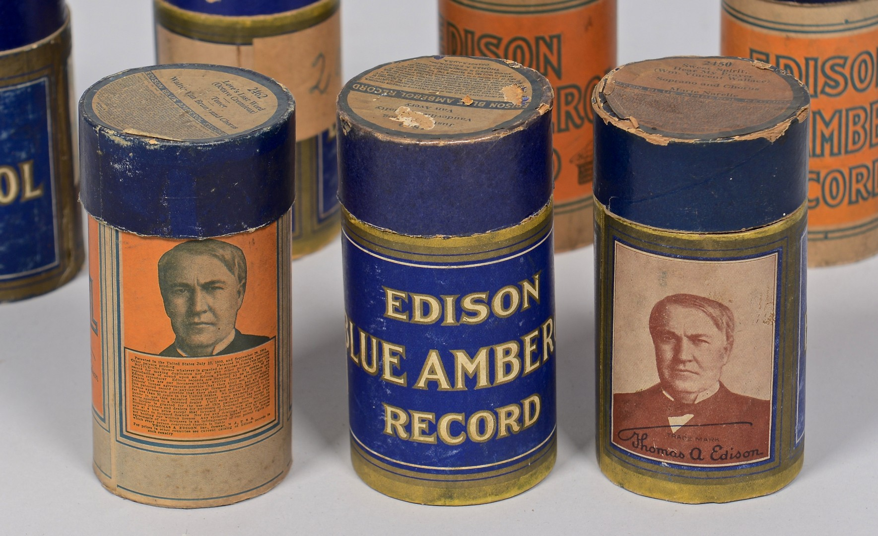 Lot 848: Lot of Blue Amberol Cylinder Records