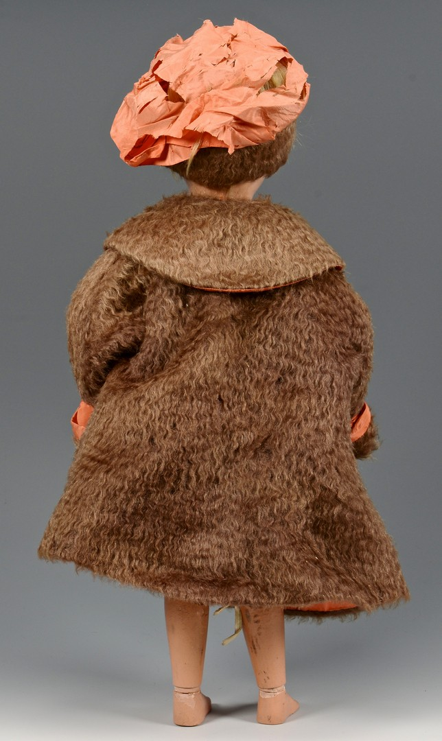 Lot 849: Schoenhut Child Doll w/ Mohair Coat