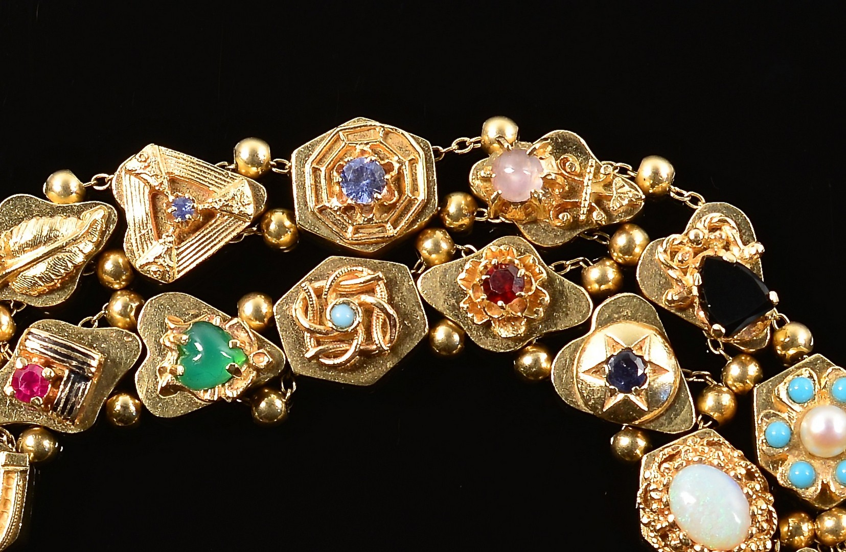Lot 84: 14K Double Strand Slide Bracelet