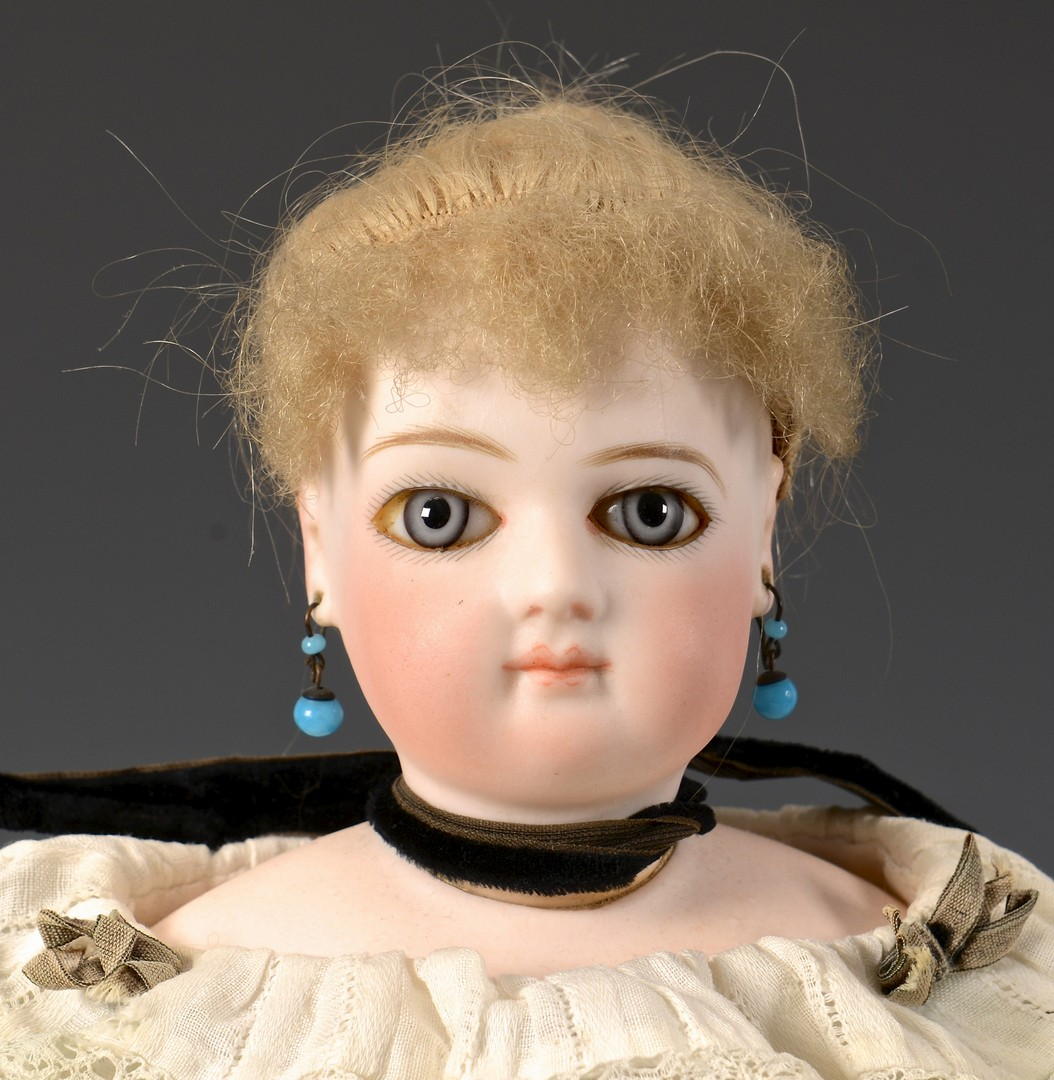 Lot 850: Pair French Bisque Dolls, 1 poss. Bru