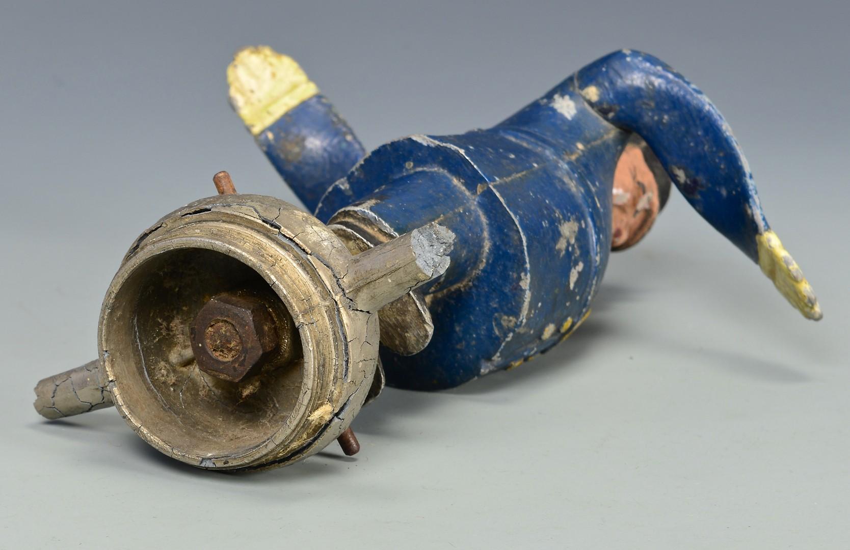 Lot 852: 1920's Policeman Whirligig Radiator Mascot