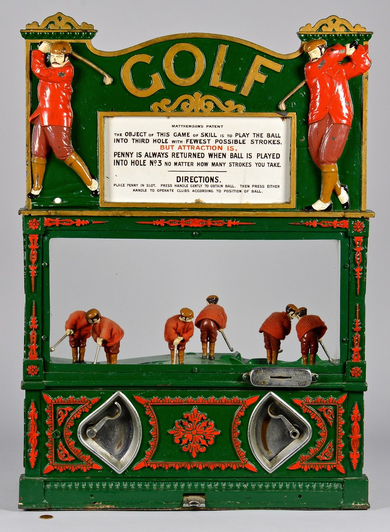 Lot 853: Penny Slot Golf Machine, circa 1900, Matthewson