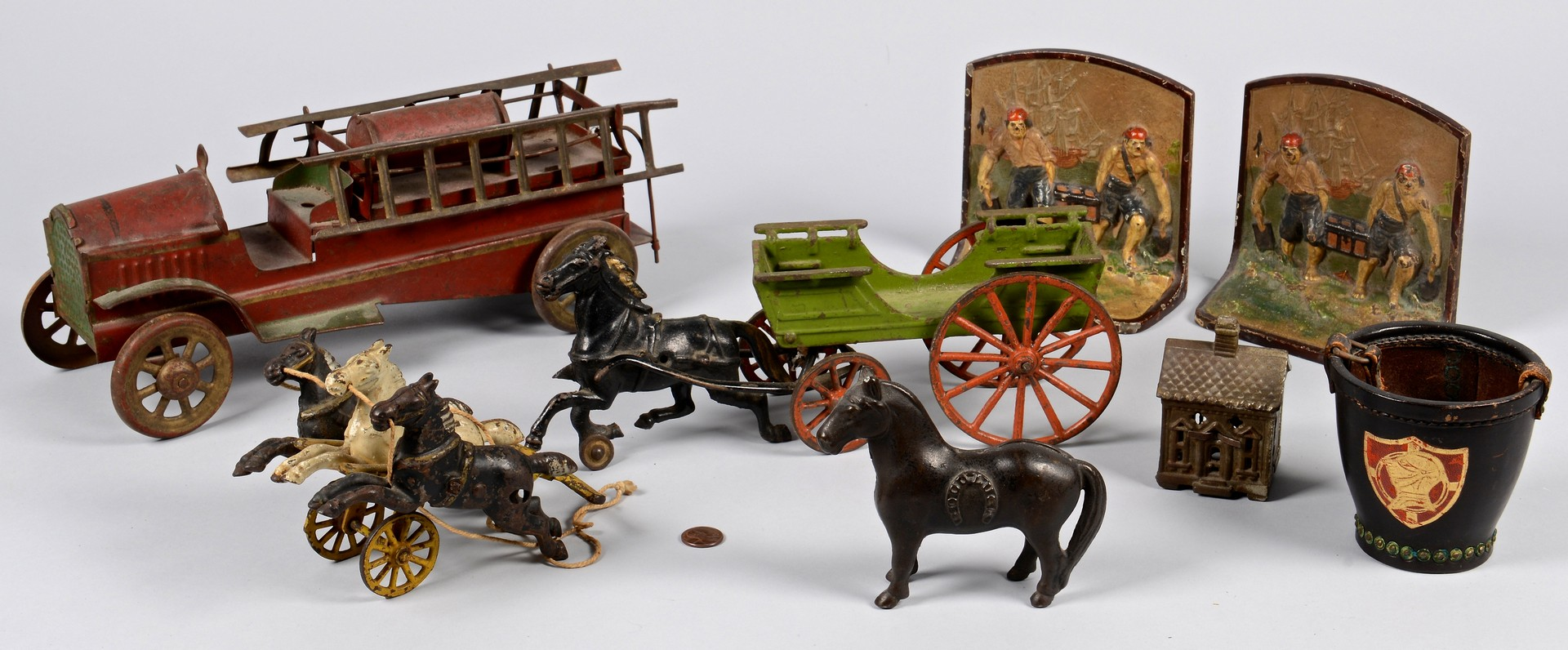 Lot 854: Assorted Cast Iron and Toy Items