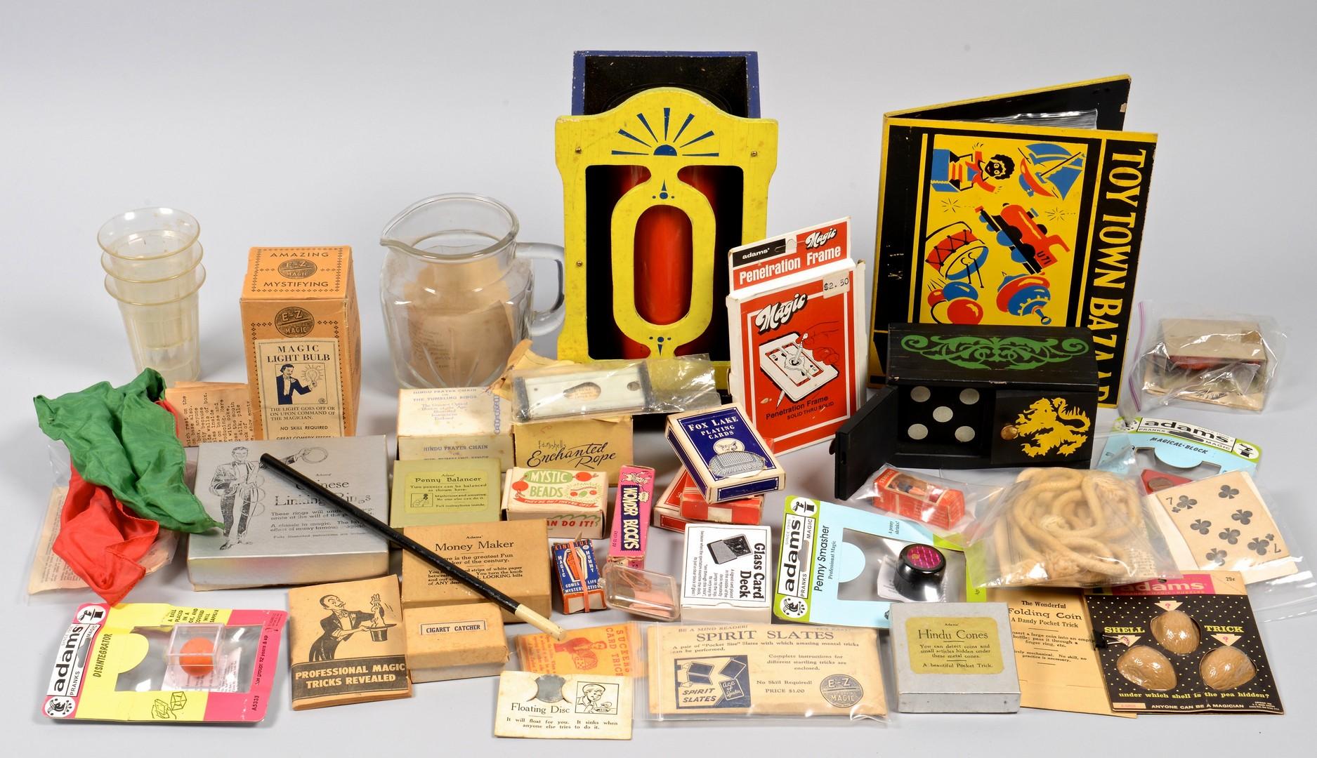 Lot 855: Collection Magic Tricks, circa 1950s, 38 items