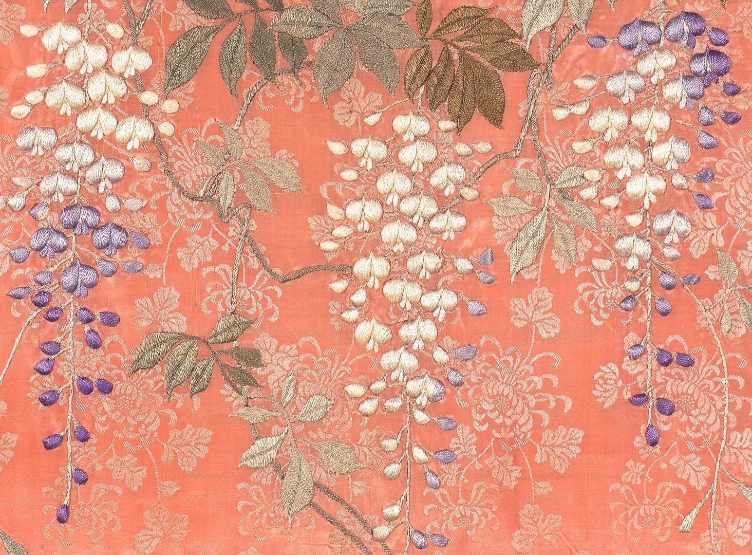 Lot 873: 2 Japanese Silk Kimonos & Pr. Slippers