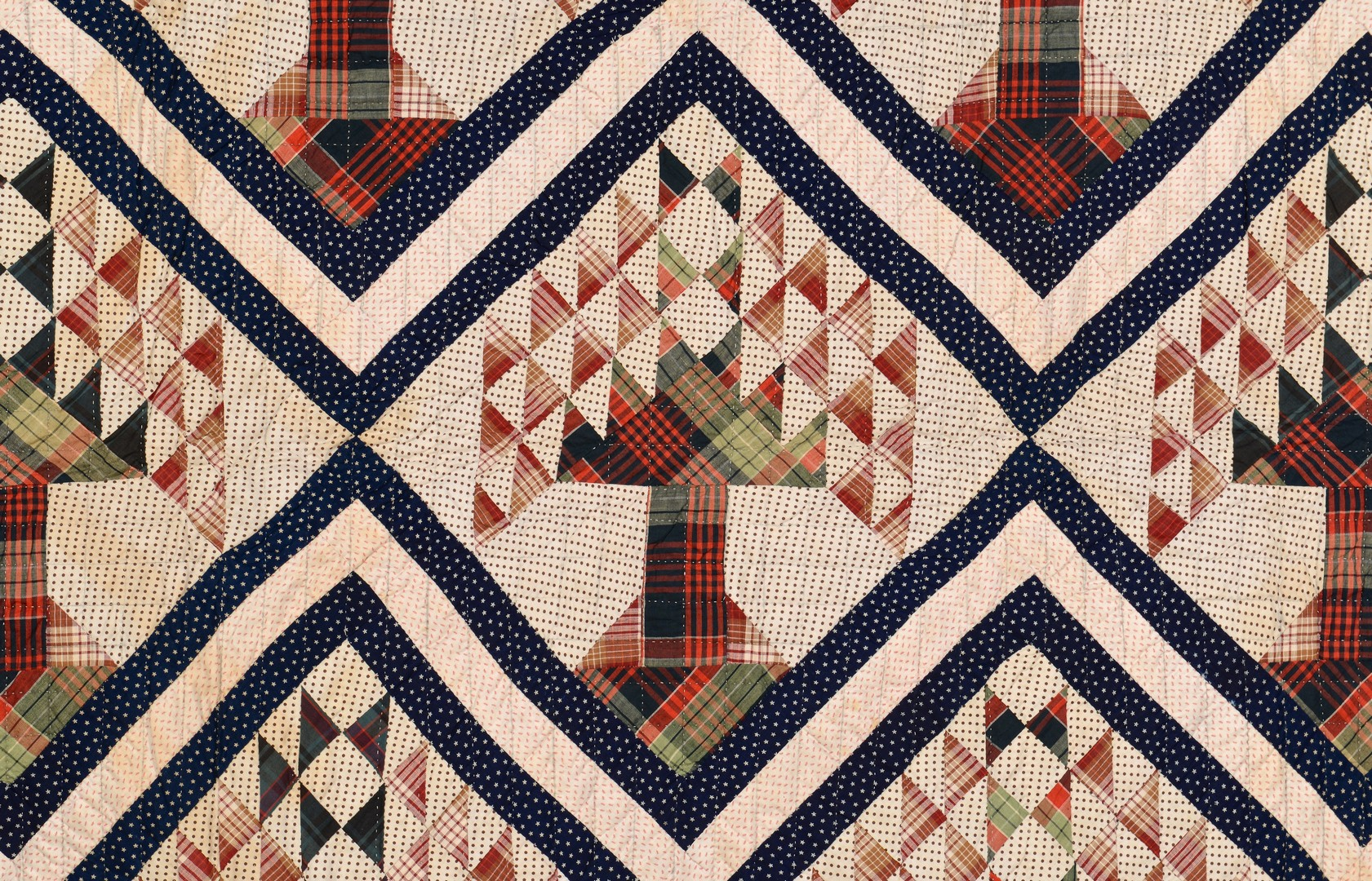 Lot 883: Group of 3 East TN Pieced Cotton Quilts