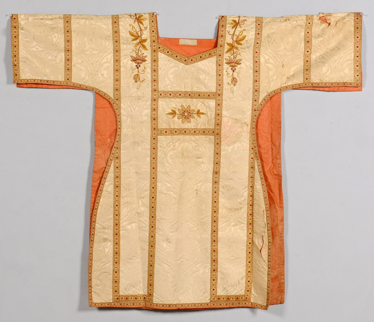 Lot 884: Embroidered Ecclesiastical Vestments & Table Cover