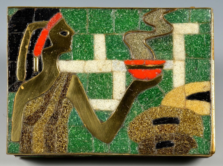Lot 889: 2 Mosaic boxes attr. Salvador Teran