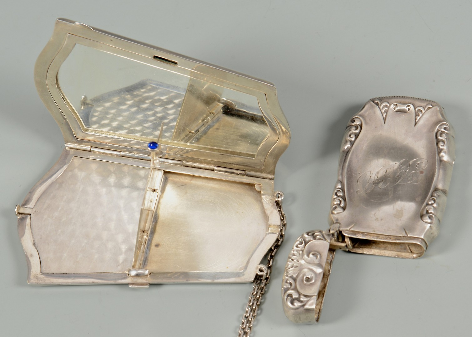 Lot 892: Sterling Silver Vanity Set & Others