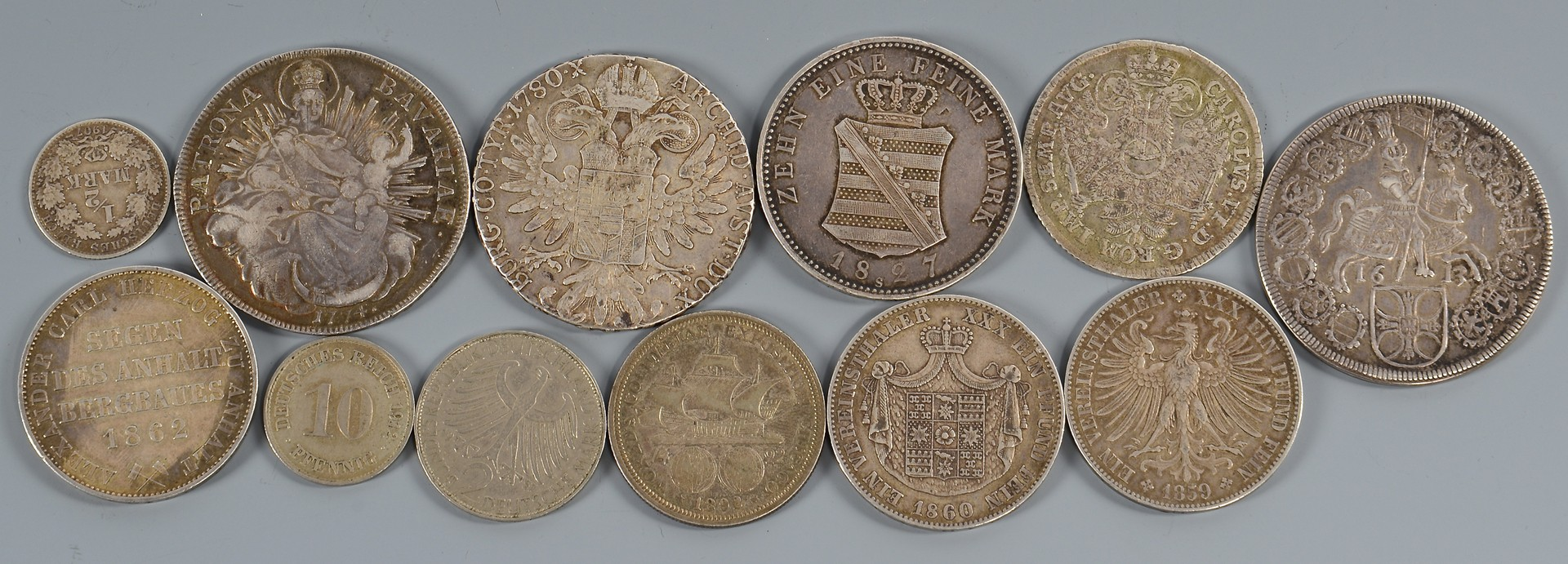Lot 896: Group of 11 German Coins & 1 other