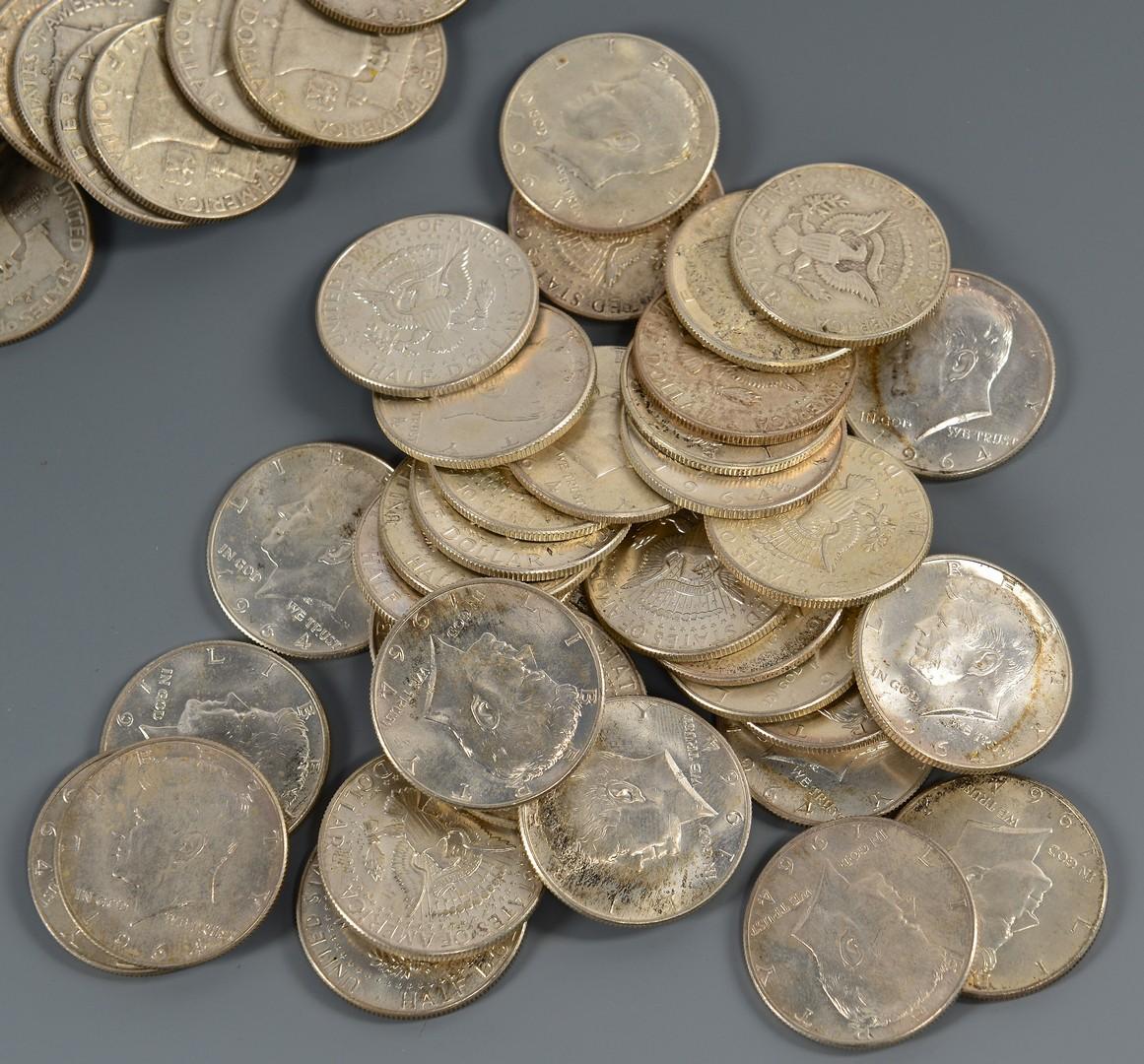 Lot 898: 207 U. S. Silver Half-dollars