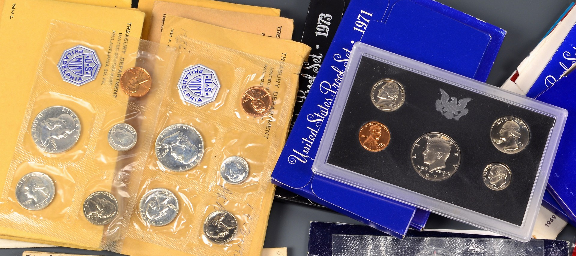 Lot 901: Collection of 26 US Coin Proof Sets & More
