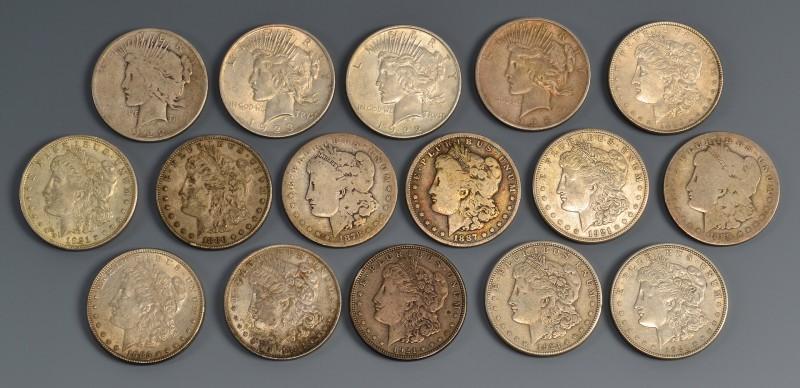 Lot 904: Grouping of U. S. Morgan Dollars, 16 total