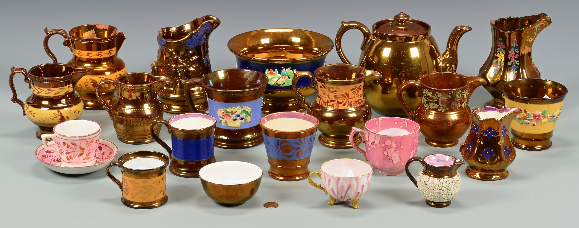 Lot 905: Group of Assorted Lusterware, 20 pcs