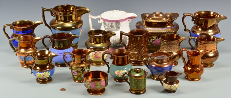 Lot 906: Group of Assorted Lusterware, 19 pcs