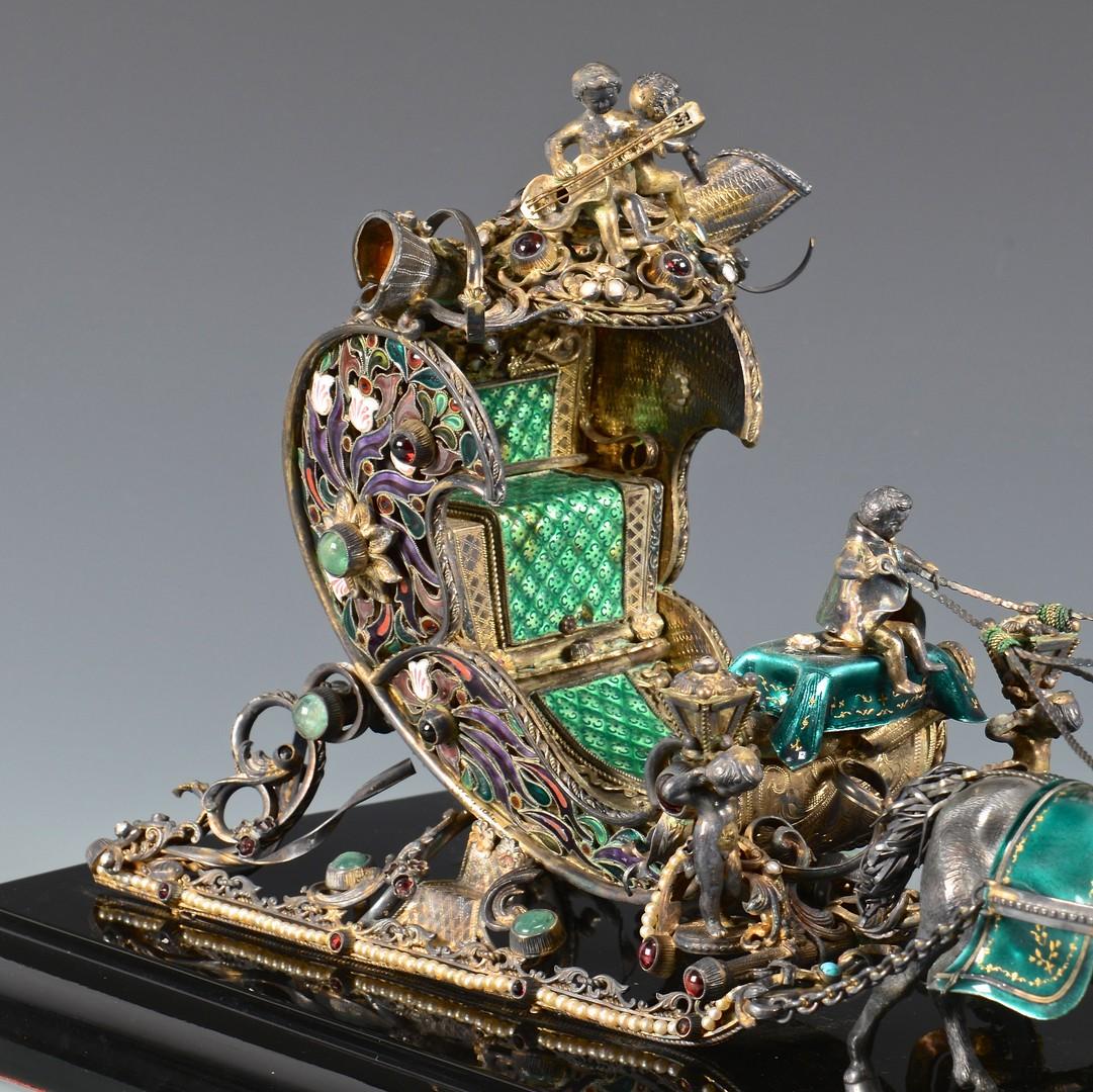 Lot 90: Fabergª Style Enameled Troika