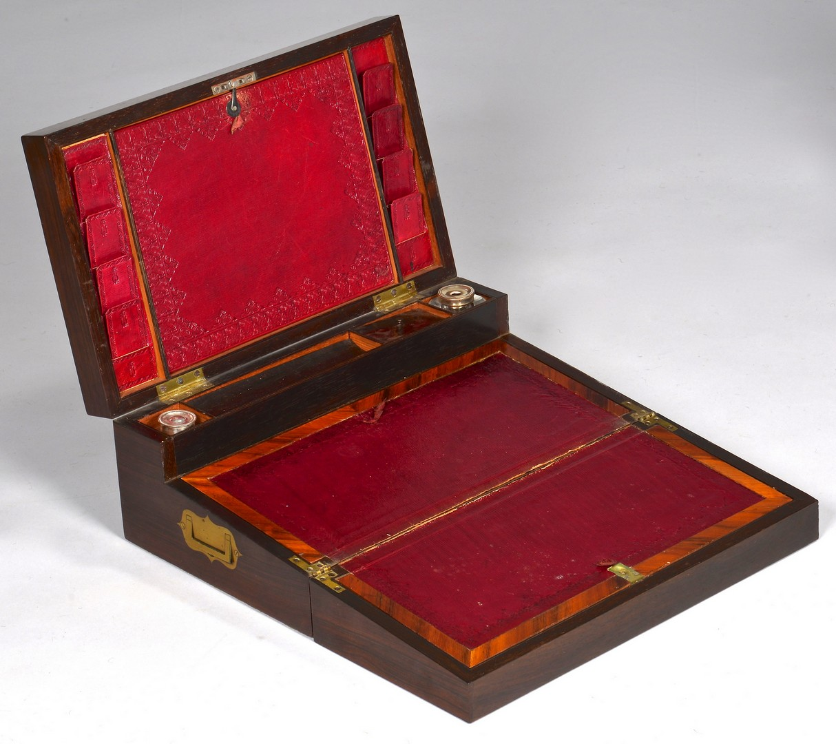 Lot 93: English Ladies Toiletry Box & Travel Lap Desk