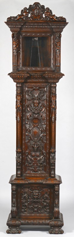 Lot 98: Carved Tall Clock Case