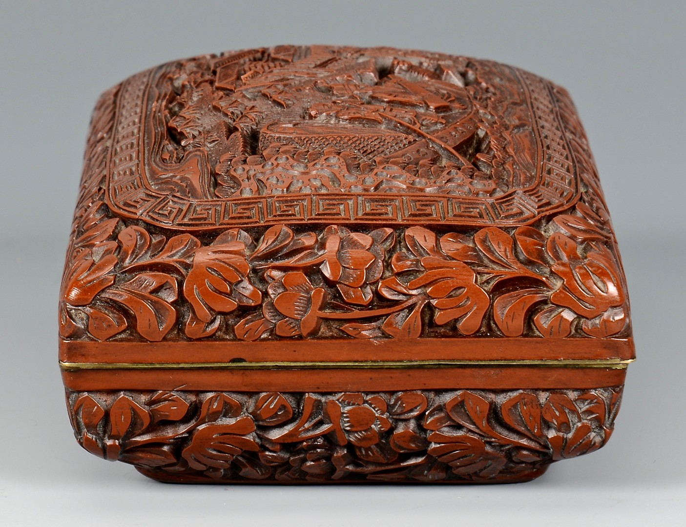 Lot 9: 2 Chinese Carved Lacquer Boxes