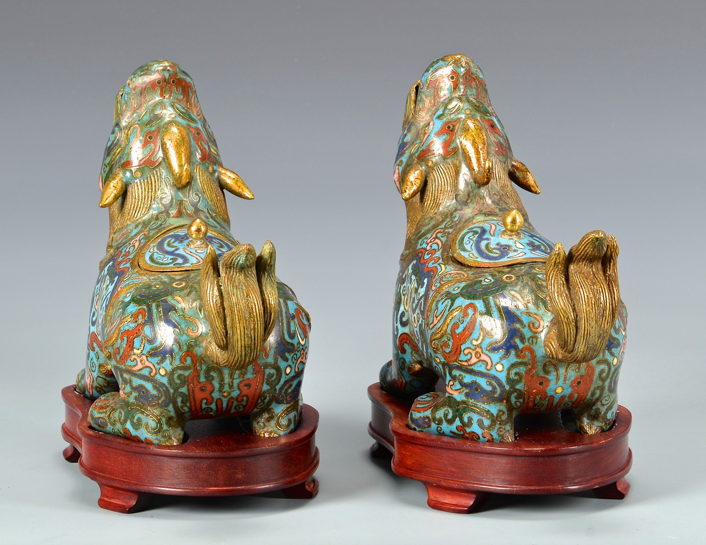 Lot 4010059: 3 Chinese Figural Incense Burners, Dogs & Bird
