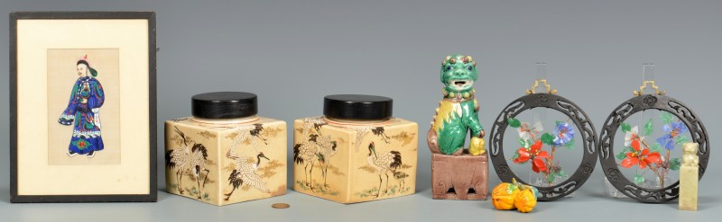 Lot 4010063: 10 Asian Decorative Items