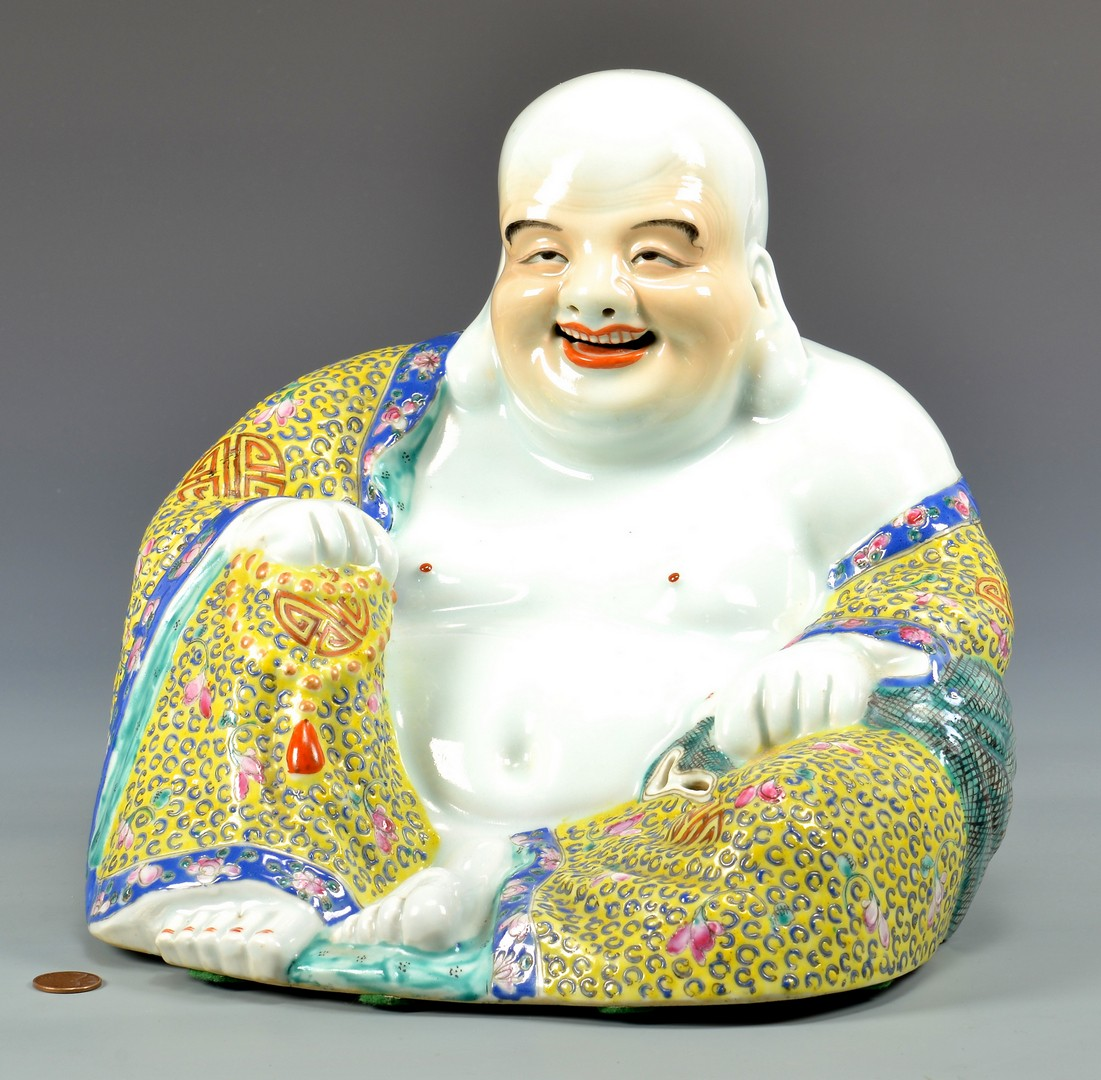 Lot 4010072: Famille Rose Laughing Buddha