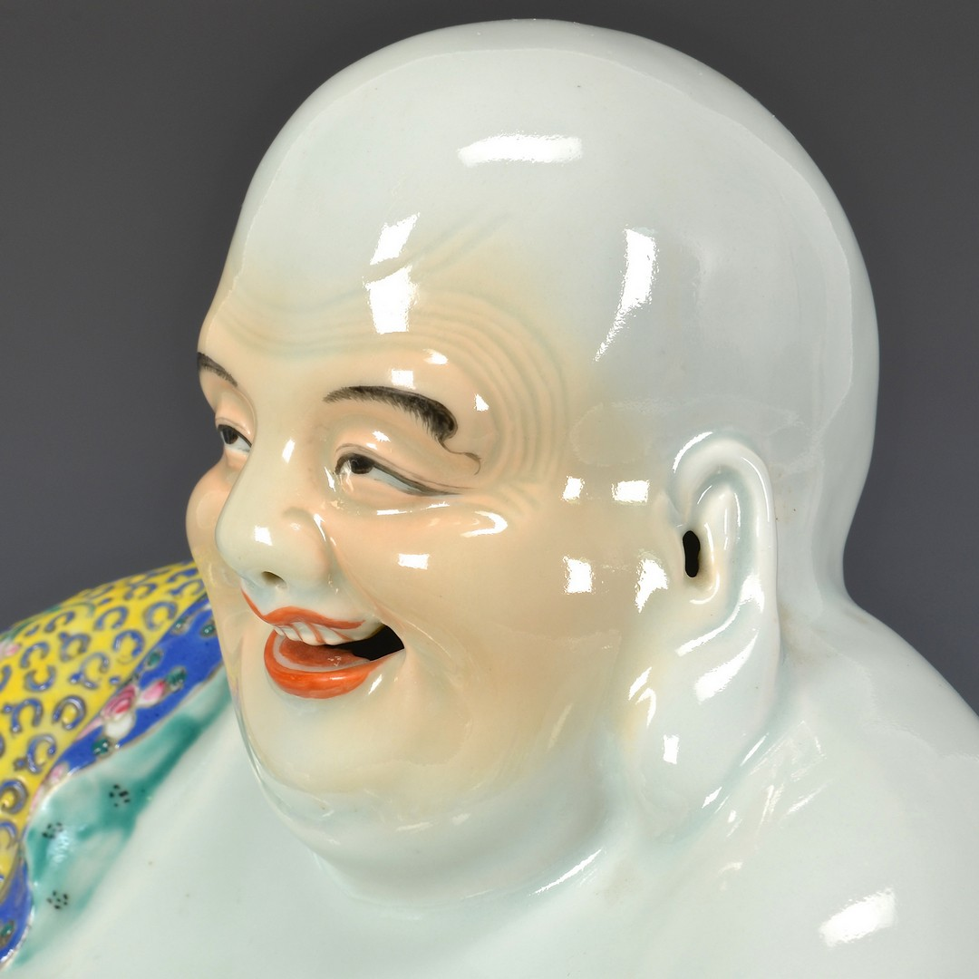 Lot 4010072: Famille Rose Laughing Buddha