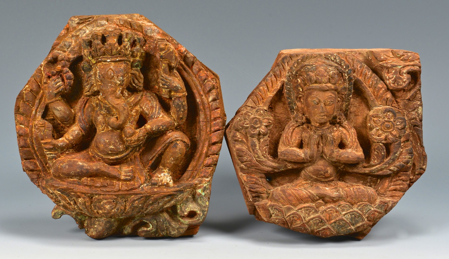Lot 4010073: 7 Asian / Tibetan Architectural Plaques